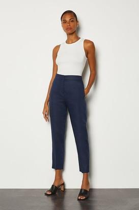 Karen Millen Italian Linen Slim Leg Trouser
