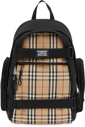 Burberry Nevis Vintage Check panel backpack