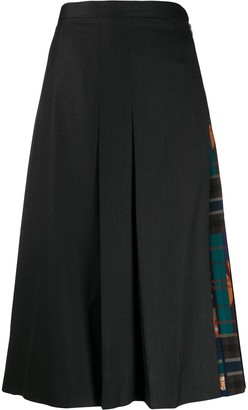 Salvatore Ferragamo Pleated Midi Skirt