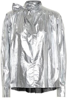 Isabel Marant Tessa cotton metallic blouse