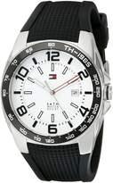 Tommy Hilfiger Men's 1790884 Sport Stainless Steel Bezel Silicon Strap Watch