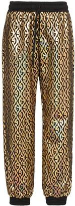 Gucci G Rhombus metallic track pants