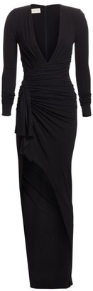 Alexandre Vauthier Stretch Jersey V-Neck Gown