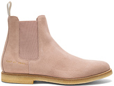 Common Projects Chelsea Suede Boots in Blush