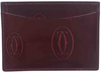 Cartier Red Leather Purses, wallets & cases