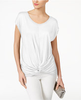 INC International Concepts Twist-Front T-Shirt, Created for Macy's