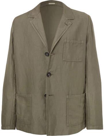 Massimo Alba Unstructured Linen And Cotton-Blend Suit Jacket