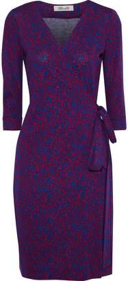 Diane von Furstenberg New Julian Printed Cotton And Silk-blend Wrap Dress