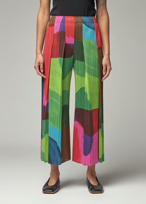 Pleats Please Issey Miyake Women's Energetic Colors Bottoms Pants in Magenta Size 2