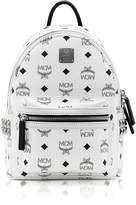 MCM White Mini Stark Backpack