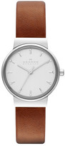 Skagen Women&s Leather Strap Watch