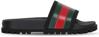 Gucci Web Stripe Rubber Slide Sandals
