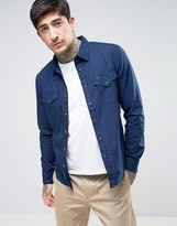 Lee Western Slim Fit Shirt Solid Dobby