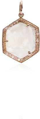 Jacquie Aiche 14kt Rose Gold And Diamond Hexagon Charm Necklace