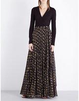 Diane von Furstenberg Aviva silk-blend maxi dress