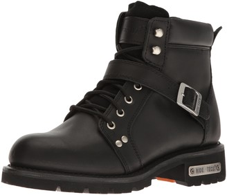 "Ride Tec RIDETECS Mens 6"" Motorcycle Boot Inside Zipper Leather Goodyear Welt"