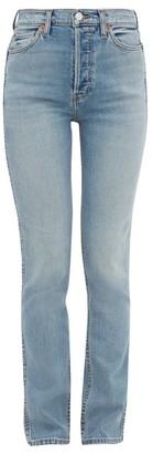 RE/DONE High-rise Slim-leg Jeans - Womens - Blue
