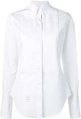 Thom Browne Pleated-Bib Tuxedo Shirt