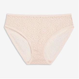 Joe Fresh Women's Lace Bikini, Light Pink (Size L)