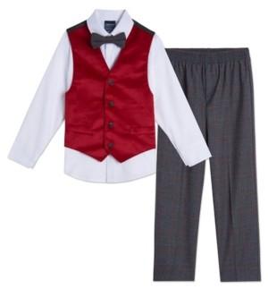 Nautica Toddler Boys Velvet 4 Piece Vest Set