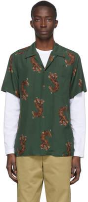 Wacko Maria Green Tigers Hawaiian Shirt
