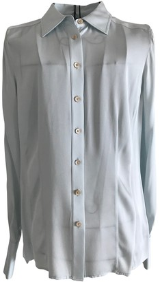 Brooks Brothers Blue Silk Top for Women