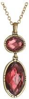 "The Sak Double Stone Pendant Necklace 18"""