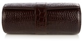 Smythson Mara Crocodile-effect Leather Watch Roll