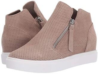 Steve Madden Caliber Wedge Sneaker (Black Suede) Women's Shoes