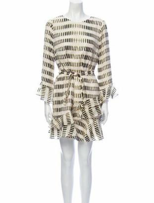 Saloni Silk Mini Dress Gold