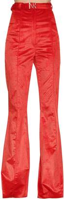 Nina Ricci High Waisted Flared Corduroy Pants