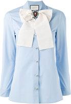 Gucci removable brooch shirt - women - Cotton - 42