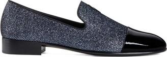 Giuseppe Zanotti Glitter Panelled Loafers