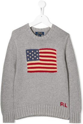 Ralph Lauren Kids American Flag sweater