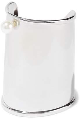 Maison Margiela Silver-tone Faux Pearl Cuff