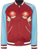 Diesel Satin Floral Bomber Jacket
