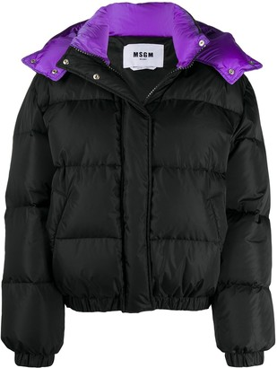 MSGM Padded Hooded Jacket