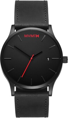 MVMT Classic Leather Strap Watch, 45mm