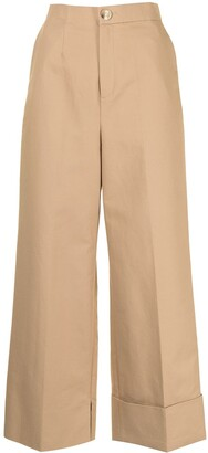Enfold Wide-Leg Cotton Trousers
