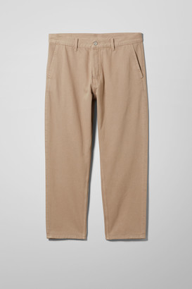 Weekday Barrel Clay Denim Chinos - Beige