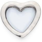 "Annieglass Roman Antique Platinum 8"" Heart Bowl"