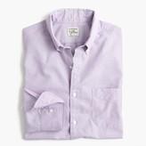 J.Crew Secret Wash shirt in purple end-on-end cotton