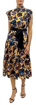 Sam Edelman Floral Print Midi Dress