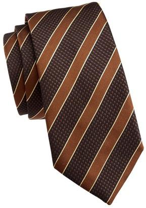 Emporio Armani Stripe & Dot Silk Tie