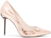 Sophia Webster Coco Flamingo Leather Heels