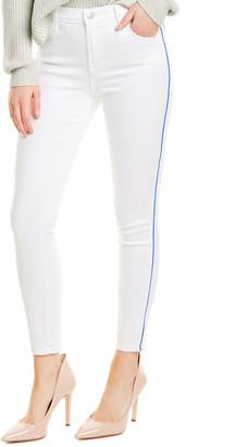 J Brand Alana White High-Rise Skinny Crop