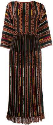 Etro panelled long dress