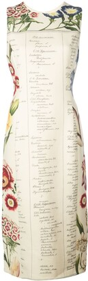 Oscar de la Renta floral Calligraphy dress
