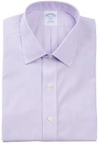 Brooks Brothers Micro Stripe Long Sleeve Slim Fit Shirt