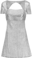 Sandro Renza cutout-back metallic lamé mini dress